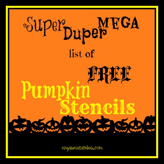 Free jack o 39 lantern stencils amy 39 s wandering for Pumpkin eating pumpkin stencil